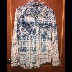 Justify Pearl Snap Button Up Shirt